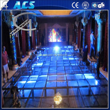2015 best sales aluminium frame acrylic platform stage/acrylic clear wedding stage/ dance floor glass stage
