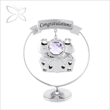 Highest Quality Stylish Chrome Plated Crystals Silver Gift Items