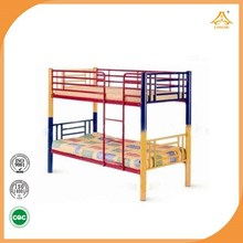 Colourful dormitory metal bed cheap student bunk bed used in school