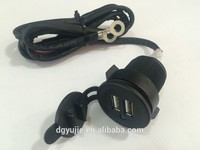 Auto truck car cigarette lighter 12v universal power outlet with double usb and inline fuse 1meter wires