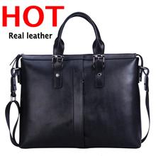 Hot Sale genuine leather men bags Factory wholesale cheap tote men bag