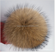 fashion hat fur accessories party wholesale real raccoon dog fur pom poms