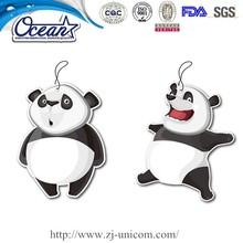 eco-friendly hanging air freshener/cute animal paper air freshener