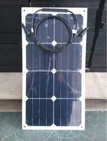 TPT Semi Flexible Solar Panel 25W Made With Sunpower Solar Cell