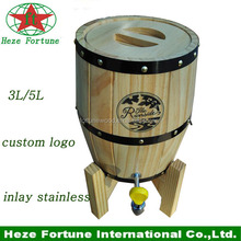 Di legno 3l/5l botte in acciaio utilizzati per la birra