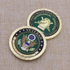 Custom Enamel Metal Gold Plated Challenge Coin