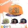 2015 Custom Embroidery Snapback Cap,Design Your Own Snapback Cap/Hat Wholesale