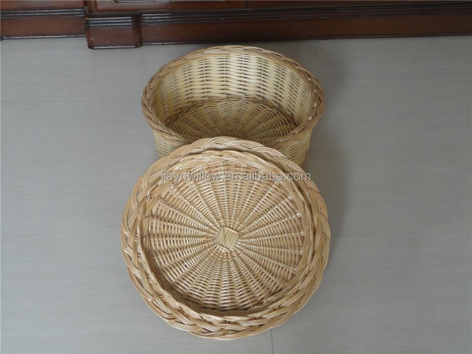 Handmade Heart Basket : Handmade natural wicker heart shape fruit basket