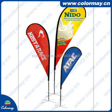 China Manufacturer Stand Knife Beach Flags with Pole