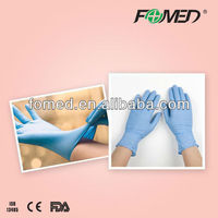 Powdered and powder free nitrile pink gloves with CE,FDA