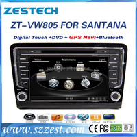 ZESTECH car dvd gps navigation system for VW Santana /Bora 2013 car stereo with DVD +3G+BLUTOOTH +AM/FM+USB/SD +GPS