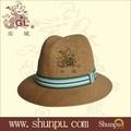 2015 verão 100% de papel de palha chapéu panamá
