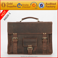 Latest handbag genuine crazy horse leather man tote bag