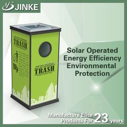 Durable street solar power advertising display / solar waste bin