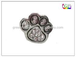 small paw print pin pet brooch jewelry with rhinestone