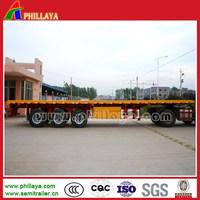 PHILLAYA Truck trailer type tri-axle 40ft container truck flatbed container tractor trailer with CCC ISO certificate