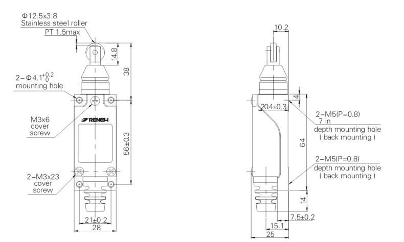 crane limit swiitch rl8112 roller plunger type limit switch   2 no 2 nc limit switch