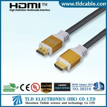 Metal Shell HDMI to HDMI Cable for HDTV LCD LED Gold Plated Contacts