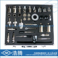 35 Sets of Common Rail Fuel Injector Dismantling Tools , diesel injector puller set Common Rail Injector Dismantling