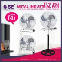 powerful wind industrial fan 3 in 1 industrial electric appliance 3 in 1 fan round base with holes FS-45-S002