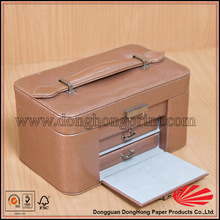 New design customized logo leather jewelry gift paper packaging boxes DH4013#