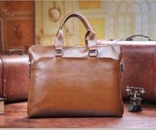 2015 Classic top quality men leather tote bag handbag