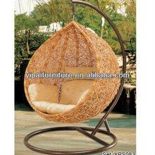 promotion!!PE rattan patio swing egg chair 6
