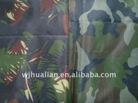 Polyester Oxford Army Print Fabric With PA Coating