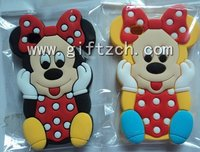 3D Mickey mouse cat Silicone phone case