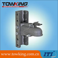 trailer couplers with adjustable tongue mounting