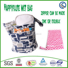 Happy flute baby waterproof and washable diaper wetbag infant baby moistureproof package diaper wet bag OEM