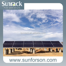 concrete base mount structure solar panel mounting support for power plant installation