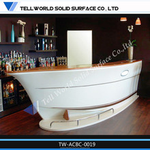 Hot Sale Acrylic Solid Surface Ready Made Modern Bar Counter,Home Bar Countertops For Sale ,Modern Cafe Shop Bar Counter Design