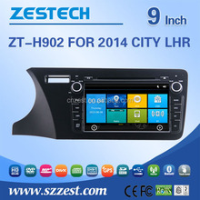 car audio mp3 cd player adapter For Honda 2014 CITY LHR car gps with auto radio Bluetooth SD USB Radio wifi 3G