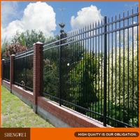 Powder coated 3 rail steel fence
