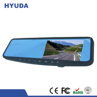 5 Inches Touch Screen 2 Car Cameras GPS Car Rearview Mirror