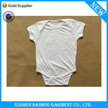 Custom Plain White Baby Romper Wholesale Baby Clothes Factory