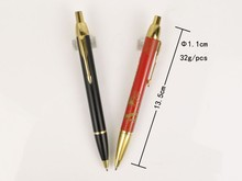 hot selling oil ball pen with oil refill, metal pen refill park pen refill