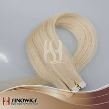 100% virgin cuticle hair superior quality tape weft