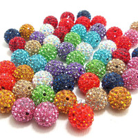 High quality cheap wholesale shamballa beads for jewellery
