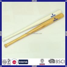 Made in China mejor precio varios tamaños y OEM logo madera barata bate de béisbol