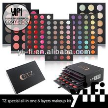 2015 YIFI factory special offer TZ brand 6 layers all-in-one professional makeup kit