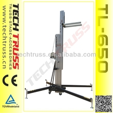 TL-650 Max Loading 350kg Aluminum telescopic light tower factory price