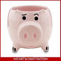 Ceramic Pig Shaped Coffee Mug/Porcelain Pig Shape Coffee Cup/Piggy Mug cup