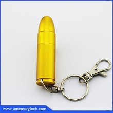 Gold bullet usb flash drive metal bullet usb pen drive military gifts usb bullet