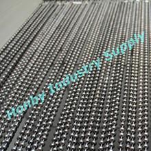 Timeless Luxurious 10mm Gunmetal Beads Decorating Curtain