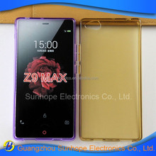 New Products glossy design transparent tpu cell phone accessories for ZTE Nubia Z9 Max case