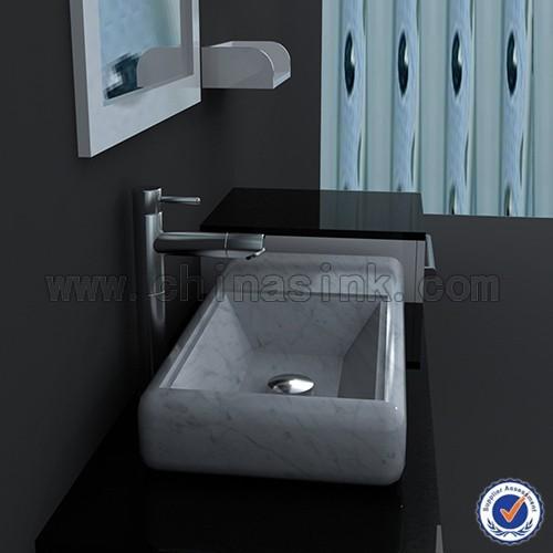 Carrara blanco m rmol peque o cuarto de ba o del fregadero - Bano marmol carrara ...