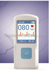 Portable Handheld ECG Monitor ecg machine, color TFT LCD display, rechargeable battery with CE