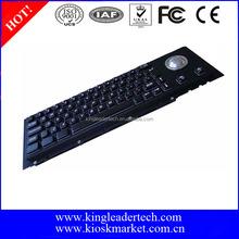 Black mechanical switch metal keyboard with trackball